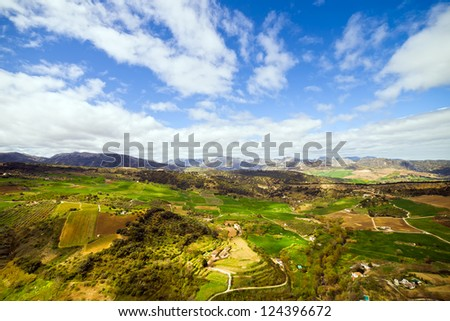 Picturesque Andaluscia landscape, southern Spain. - stock photo
