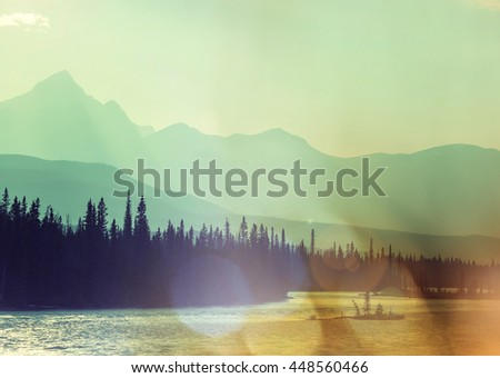 Picturesque Canadian mountains in summer