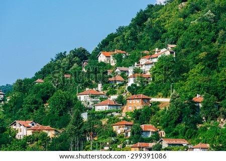 Picturesque cityscape of Gabrovo, Bulgaria