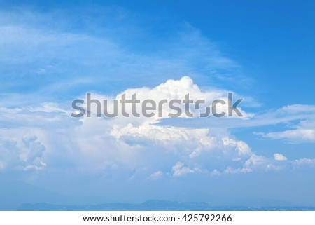 Picturesque clouds. - stock photo