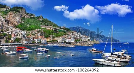 picturesque Italy series - Amalfi - stock photo