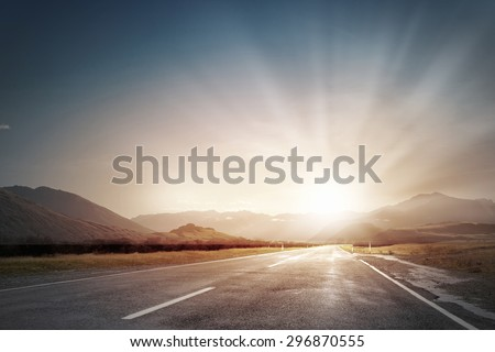 [fb] les angélus // jola&monsiame Stock-photo-picturesque-landscape-scene-and-sunrise-above-road-296870555
