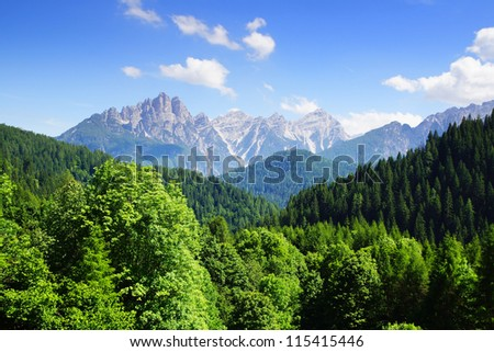 Picturesque mountain Dolomites landscape. Italy