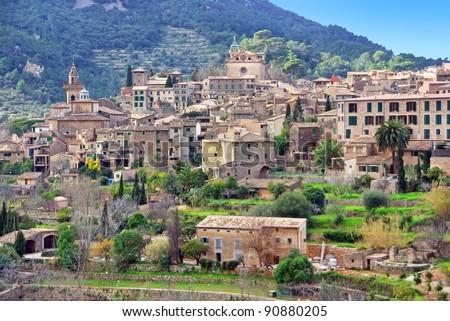 Picturesque town of Valldemossa in Majorca (Spain) - stock photo