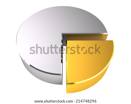 Pie diagram, 3D - stock photo