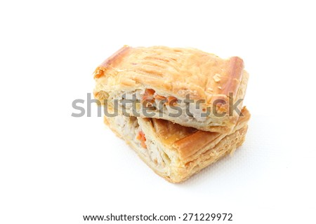 pie of puff with shrimp