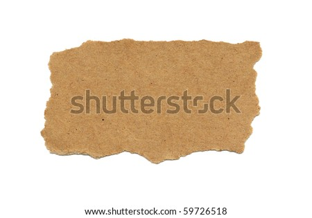 Piece of cardboard with torn edges - stock photo