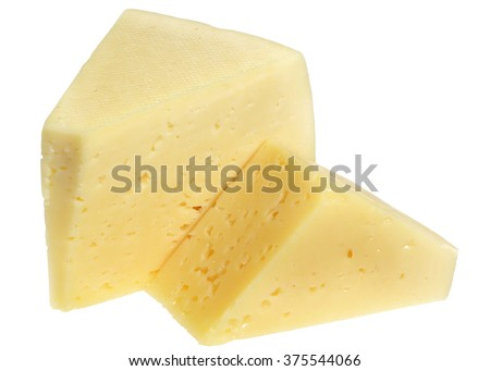 Piece of cheese it is isolated on a white background