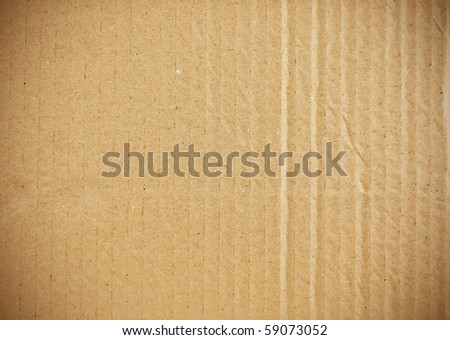 piece of corrugated cardboard - stock photo