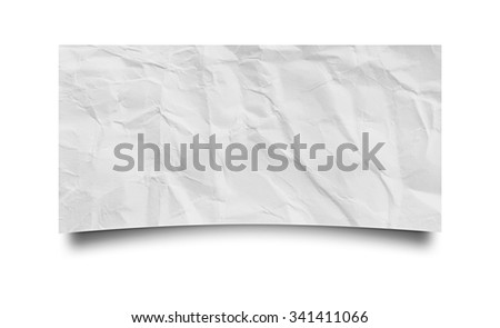 piece of crumpled paper on white background