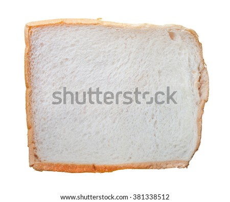 Piece of dried sliced bread isolated on white background - stock photo