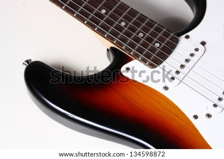 piece of electric guitar - stock photo