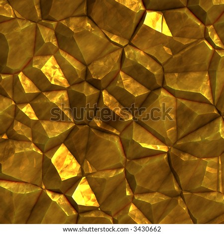 Piece of gold ore - stock photo
