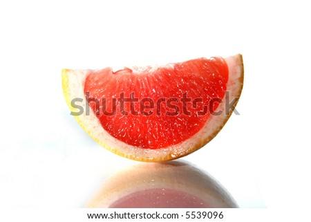piece of grapefruit - stock photo