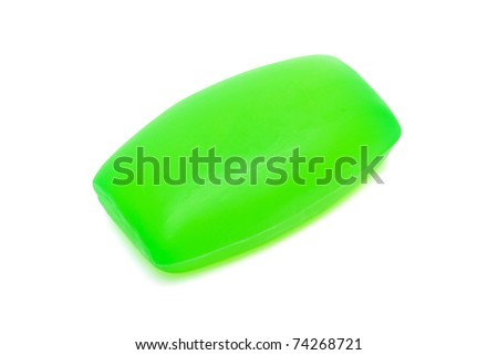 piece of green soap