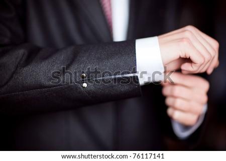 piece of jacket - stock photo