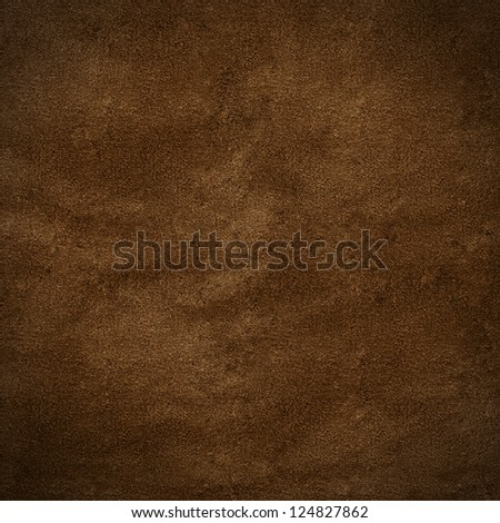 piece of leather brown - stock photo