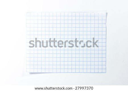 piece of notebook sheet