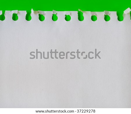 piece of paper on green background - stock photo