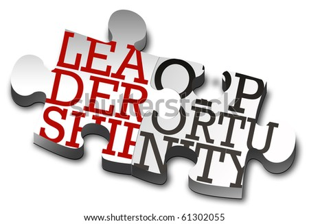 Piece of puzzle - work, opportunity, leadership. - stock photo