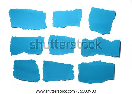 piece of ripped paper isolated - stock photo