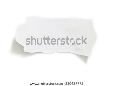 Piece of torn paper on plain background - stock photo