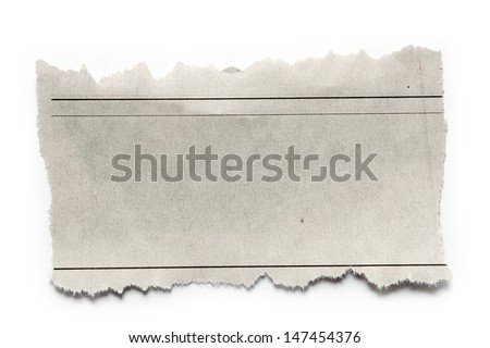 Piece of torn paper on plain background. Copy space - stock photo