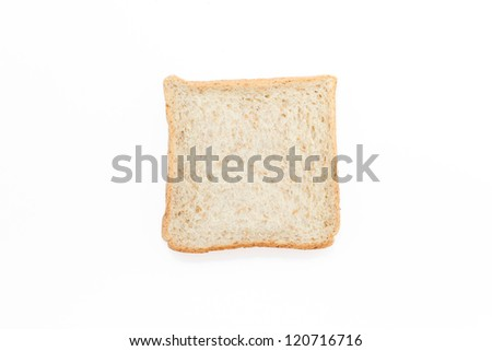 Piece of whole weed bread isolated on white background - stock photo