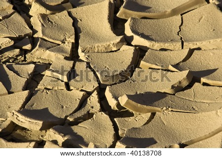 pieces of dry clay earth closeup - stock photo
