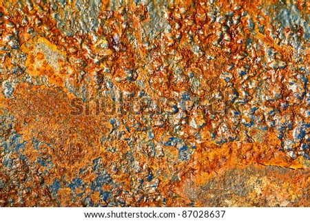 Pieces of iron containing rock - stock photo