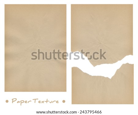 Pieces of paper, isolated on white