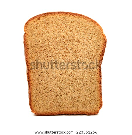pieces of sliced ??rye bread on a white background - stock photo