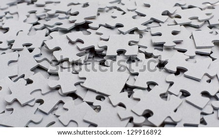 pieces of the puzzle - stock photo