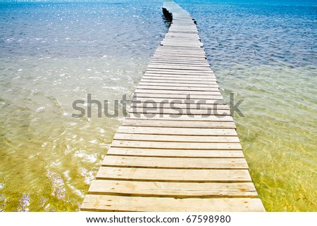 Pier and the sea - stock photo