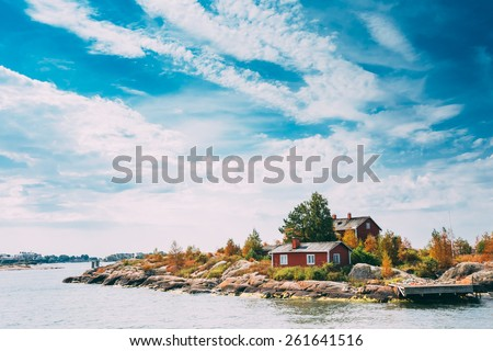 Pier, Harbour And Quay In Island Near Helsinki, Finland. - stock photo