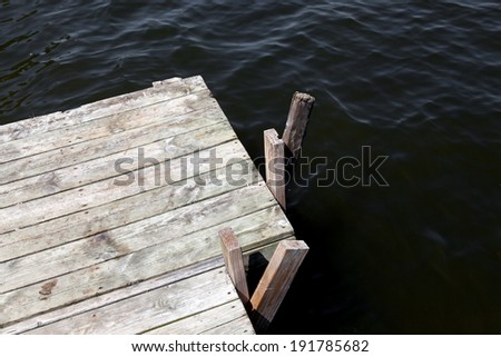 Pier in bay, Georgian Bay, Tobermory, Ontario, Canada - stock photo