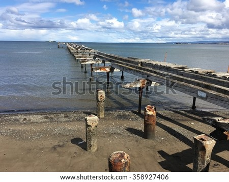 Pier in Punta Arenas, Chile - stock photo