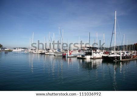Pier, Kota Kinabalu Islands Sabah, Malaysia - stock photo