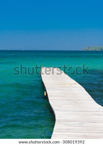 Pier Meditation Jetty to Eternity  - stock photo