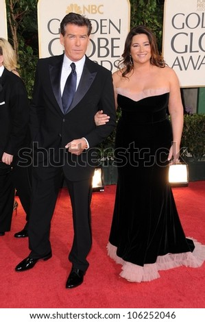 Pierce Brosnan and Keely Shaye Smith at the 66th Annual Golden Globe Awards. Beverly Hilton Hotel, Beverly Hills, CA. 01-11-09