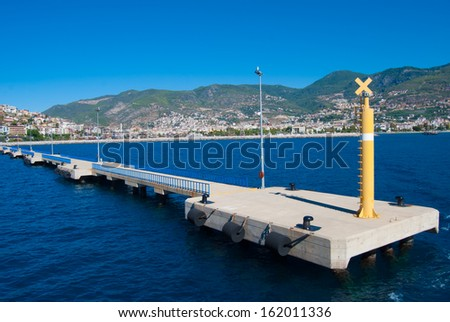 piers in Alanya, Turkey - stock photo