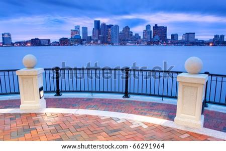 Piers Park in Boston, Massachusetts - USA. - stock photo