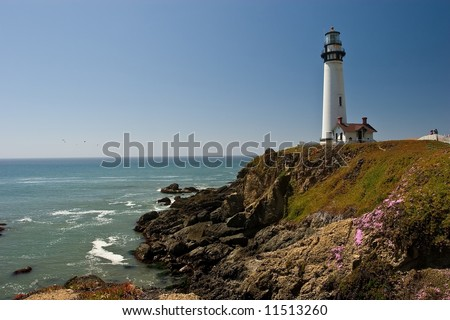 Pigeon Point Light Station is a lighthouse built in 1871 to guide ships on the Pacific coast of California.