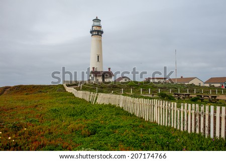 Pigeon Point Lighthouse - stock photo