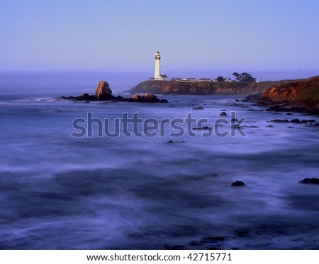 Pigeon Point Lighthouse at dawn - San Mateo County,  California