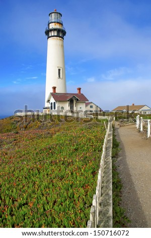 Pigeon Point Lighthouse, Big Sur Coast, California - stock photo