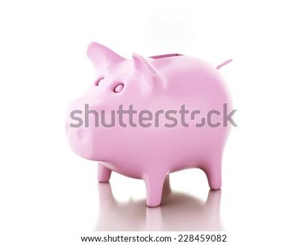 Piggy bank. 3d illustration - stock photo