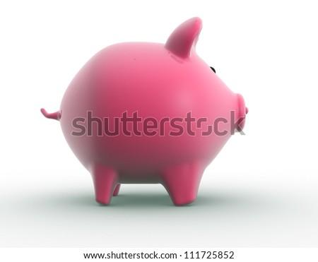 Piggy bank. 3d render - stock photo