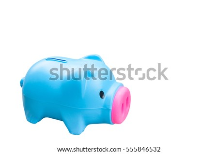 Piggy bank isolated on white background, finance theme