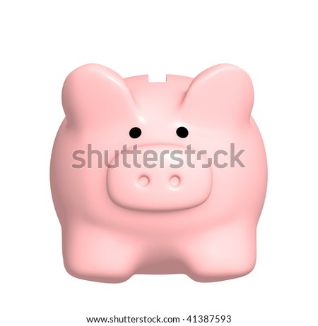 Piggy bank - isolated over white